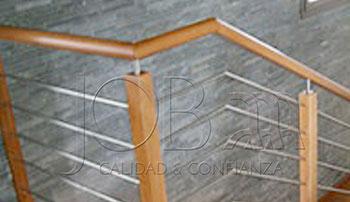 Barandas de acero inoxidable y pasamanos de madera B-08