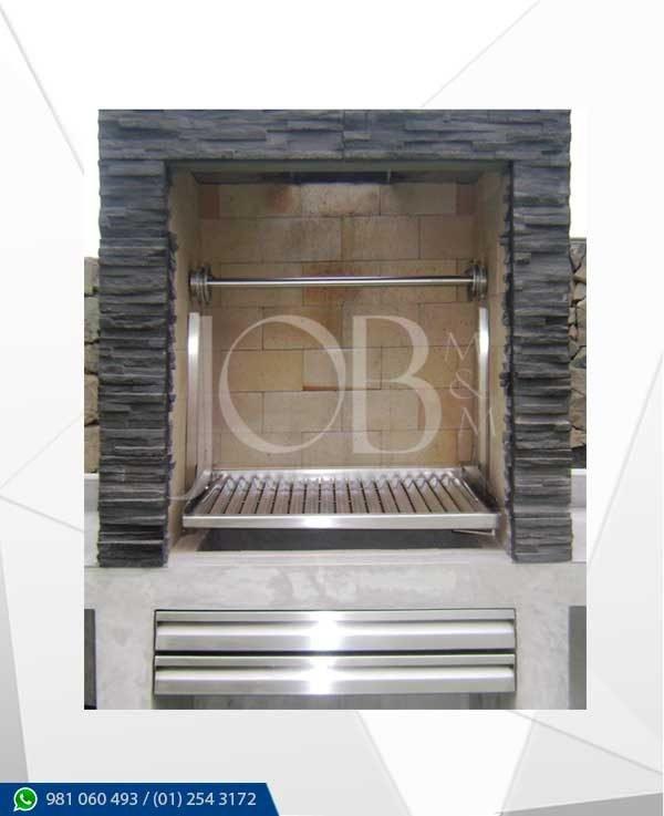 parrilla de acero inoxidable para amurar en nicho, elaborada integramente en acero inoxidable AISI 304