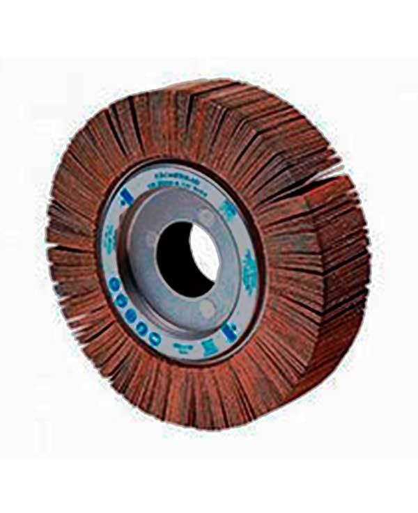 rueda asaflap de alto poder abrasivo, especial para acero inoxidable.