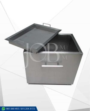 caja china job fabricado con acero quirurjico AISI 304, gastronomico.